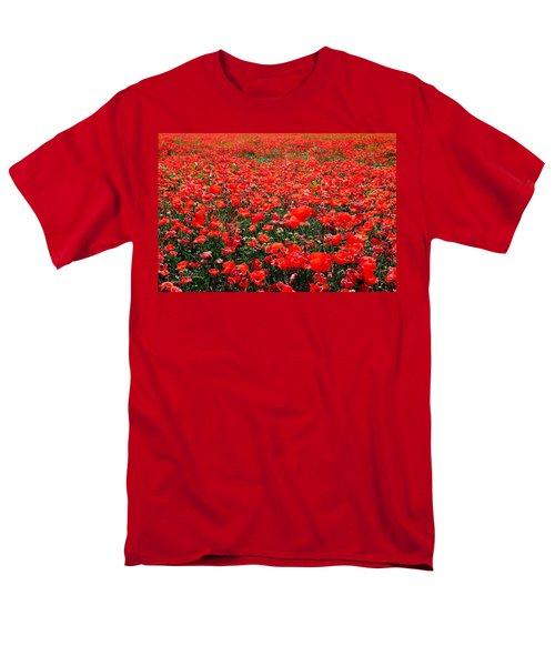 Red Poppies Men's T-Shirt  (Regular Fit) by Juergen Weiss