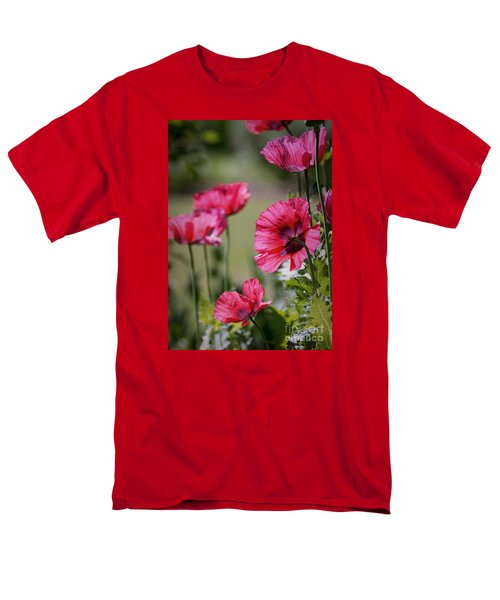 Men's T-Shirt  (Regular Fit) featuring the photograph Red Poppies by Lisa L Silva