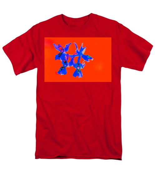 Red Provence Orchid Men's T-Shirt  (Regular Fit) by Richard Patmore