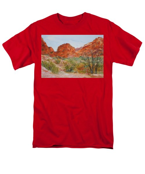 Red Rock Canyon Men's T-Shirt  (Regular Fit) by Vicki  Housel