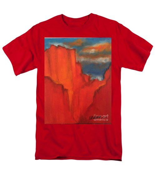 Men's T-Shirt  (Regular Fit) featuring the painting Red Rocks by Kim Nelson
