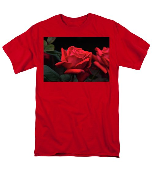 Men's T-Shirt  (Regular Fit) featuring the photograph Red Rose 014 by George Bostian