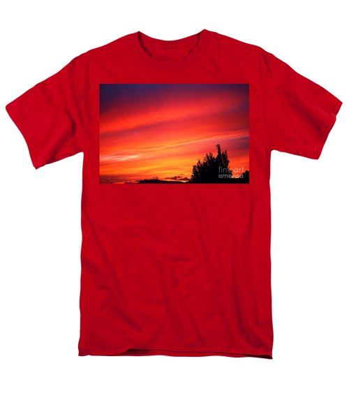 Men's T-Shirt  (Regular Fit) featuring the photograph Red Skies At Night  by Nick Gustafson