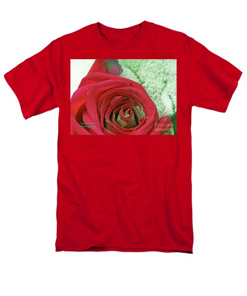 Red Men's T-Shirt  (Regular Fit) by Terry Foster