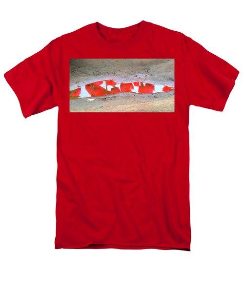 Red Tulip Reflection Men's T-Shirt  (Regular Fit) by Karen Molenaar Terrell