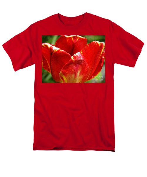 Red Tulip Men's T-Shirt  (Regular Fit) by Sarah Loft