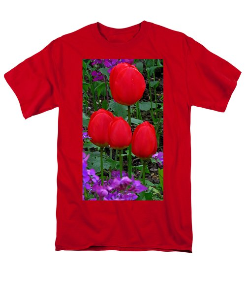 Red Tulips Men's T-Shirt  (Regular Fit) by John Topman
