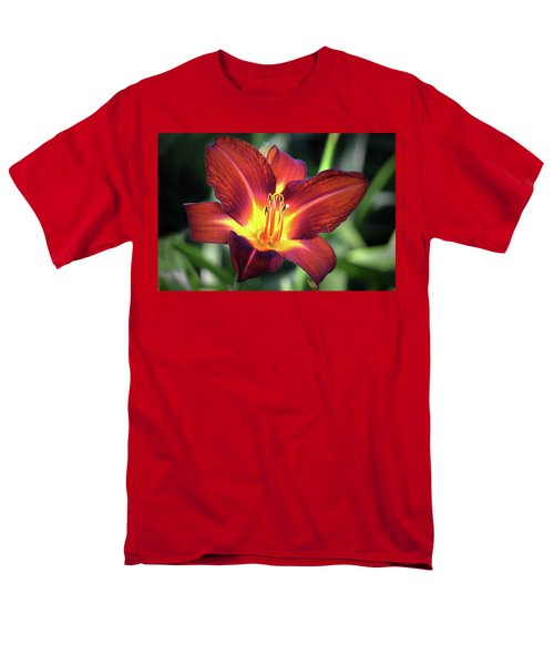 Men's T-Shirt  (Regular Fit) featuring the photograph Red Volunteer. by Terence Davis