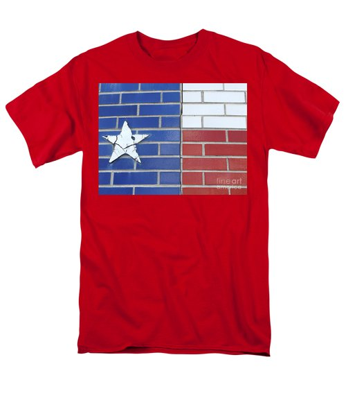 Red White Blue With Star Men's T-Shirt  (Regular Fit) by Erick Schmidt