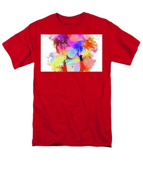 Rihanna Paint Splatter Men's T-Shirt  (Regular Fit)
