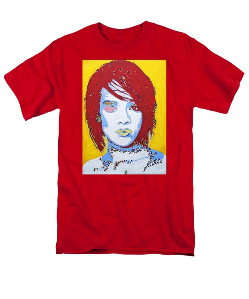 Rihanna  Men's T-Shirt  (Regular Fit) by Stormm Bradshaw