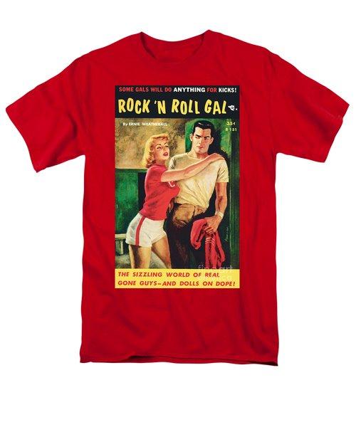 Men's T-Shirt  (Regular Fit) featuring the painting Rock 'n Roll Gal by Owen Kampen