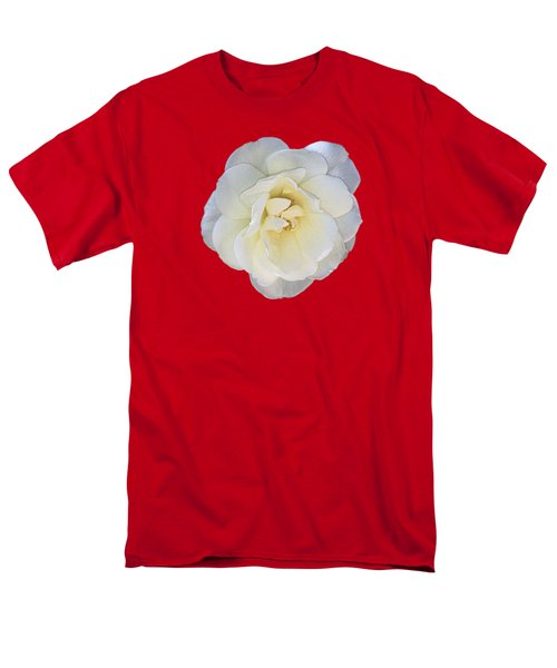 Royal White Rose Men's T-Shirt  (Regular Fit) by Daniel Hebard