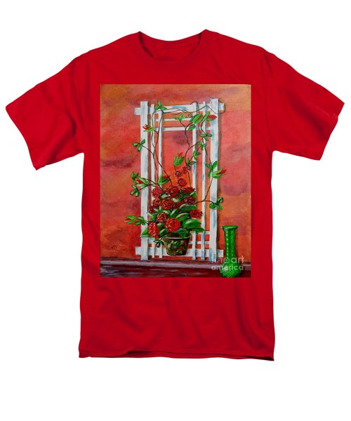 Men's T-Shirt  (Regular Fit) featuring the painting Running Roses by Melvin Turner
