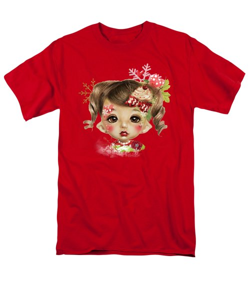 Men's T-Shirt  (Regular Fit) featuring the mixed media Sabrina - Elf  by Sheena Pike
