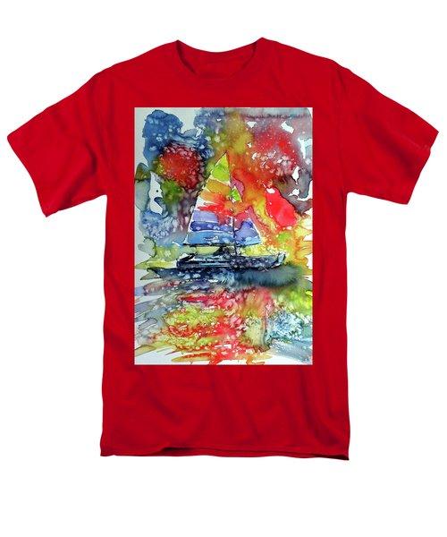 Sailboat At Sunset II Men's T-Shirt  (Regular Fit) by Kovacs Anna Brigitta