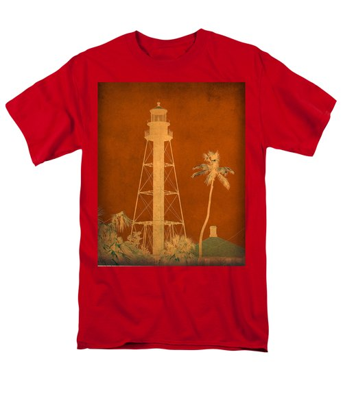 Sanibel Island Lighthouse Men's T-Shirt  (Regular Fit) by Trish Tritz