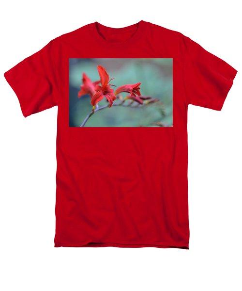Scarlet Blooms Men's T-Shirt  (Regular Fit) by Janet Rockburn