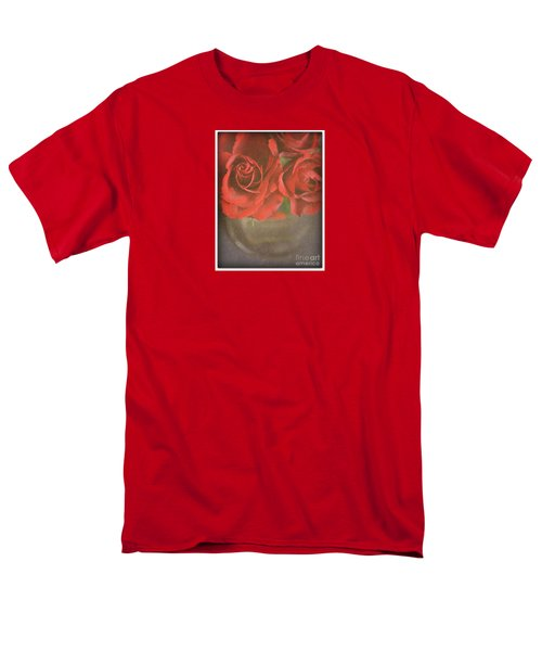 Men's T-Shirt  (Regular Fit) featuring the photograph Scarlet Roses by Lyn Randle