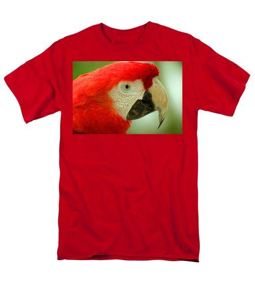 Scarlett Macaw South America Men's T-Shirt  (Regular Fit) by Ralph A  Ledergerber-Photography