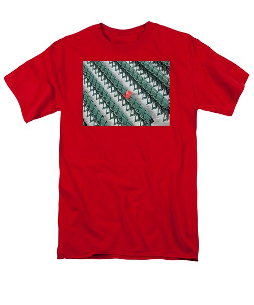 Section 42 Row 37 Seat 21 Men's T-Shirt  (Regular Fit) by Barbara McDevitt