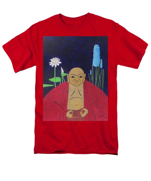 Men's T-Shirt  (Regular Fit) featuring the painting Serene Buddha by Hilda and Jose Garrancho