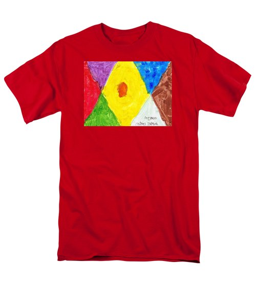 Men's T-Shirt  (Regular Fit) featuring the painting Shapes by Artists With Autism Inc