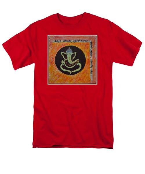Men's T-Shirt  (Regular Fit) featuring the painting Shri Ganeshay Namah by Sonali Gangane