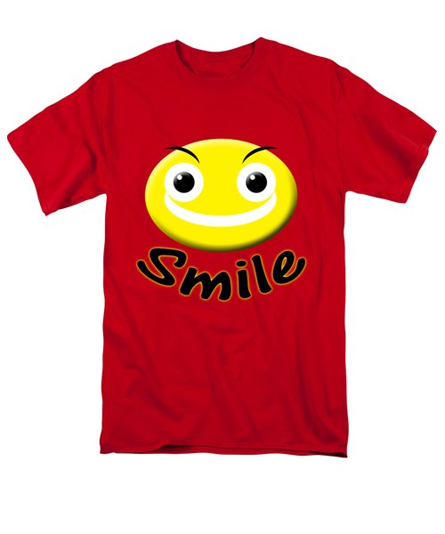 Smile T-shirt Men's T-Shirt  (Regular Fit) by Isam Awad