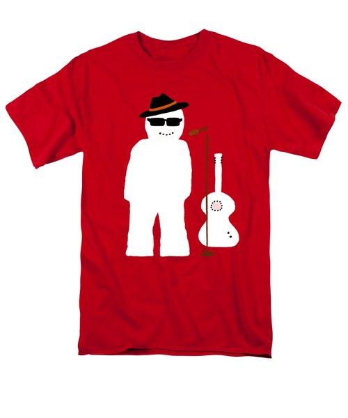 Snowman Musician Men's T-Shirt  (Regular Fit) by Barbara Moignard