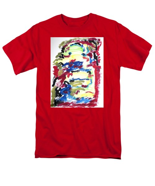 Men's T-Shirt  (Regular Fit) featuring the painting Spatial Outwardness by Esther Newman-Cohen