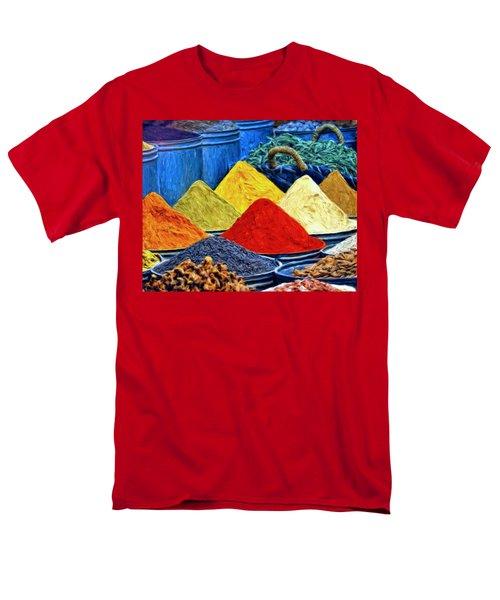 Spice Market In Casablanca Men's T-Shirt  (Regular Fit) by Dominic Piperata