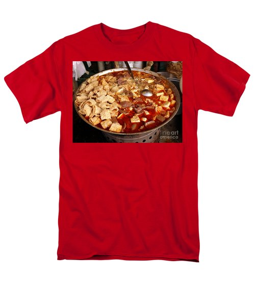 Men's T-Shirt  (Regular Fit) featuring the photograph Spicy Tofu Dish With Duck Blood Cakes by Yali Shi