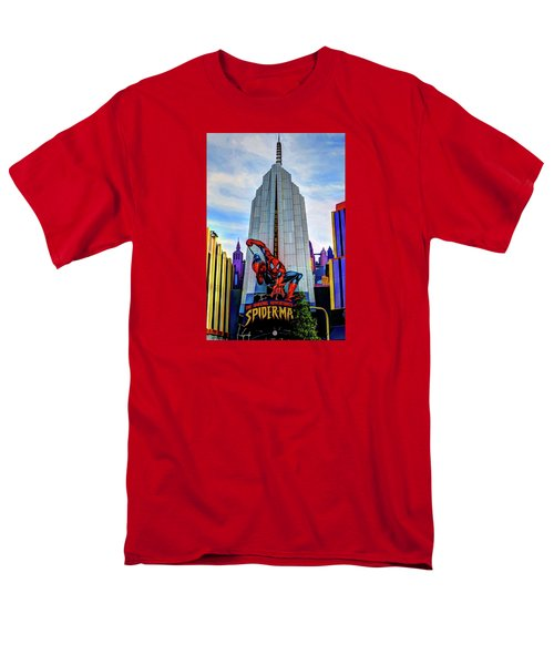 Men's T-Shirt  (Regular Fit) featuring the photograph Spiderman by Tom Prendergast
