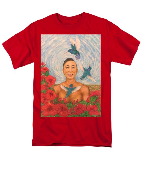 Spring Amazed By The Hummingbirds Men's T-Shirt  (Regular Fit) by Kent Chua