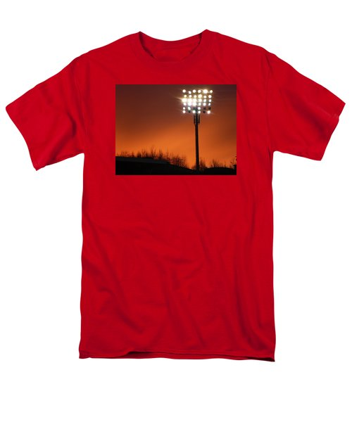 Men's T-Shirt  (Regular Fit) featuring the photograph Stadium Lights by RKAB Works