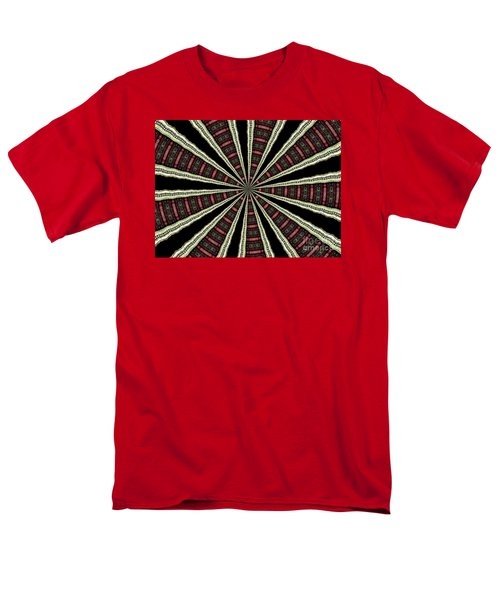 Men's T-Shirt  (Regular Fit) featuring the photograph Stained Glass Kaleidoscope 14 by Rose Santuci-Sofranko