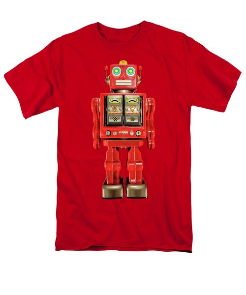 Star Strider Robot Red On Black Men's T-Shirt  (Regular Fit) by YoPedro