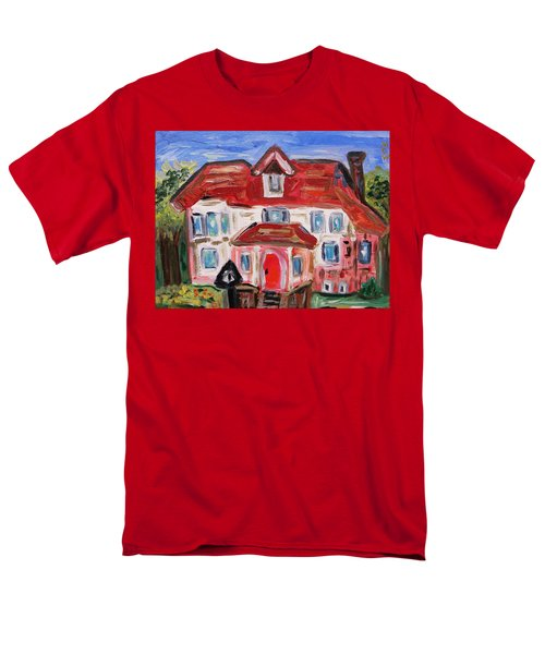 Men's T-Shirt  (Regular Fit) featuring the painting Stately City House by Mary Carol Williams