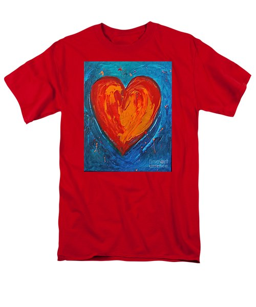 Strong Heart Men's T-Shirt  (Regular Fit) by Diana Bursztein