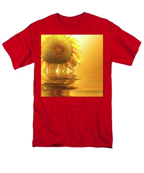 Sunflower Sunset Men's T-Shirt  (Regular Fit) by David French