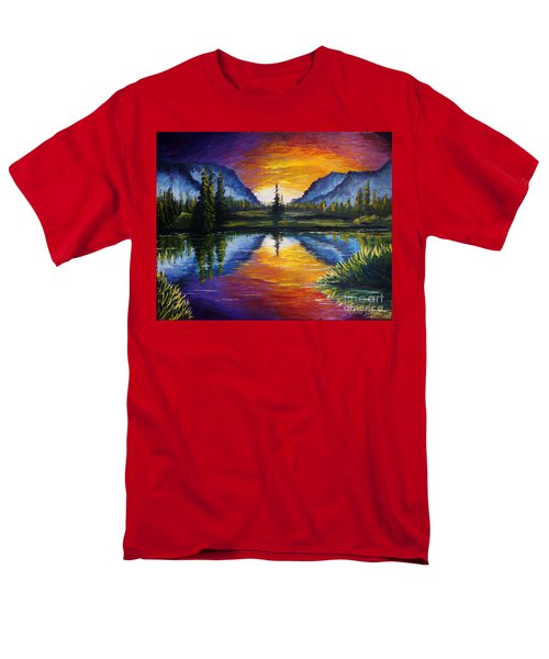 Sunrise Of Nord Men's T-Shirt  (Regular Fit) by Ruanna Sion Shadd a'Dann'l Yoder
