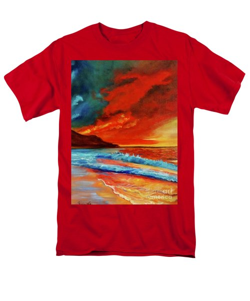 Sunset Hawaii Men's T-Shirt  (Regular Fit) by Jenny Lee