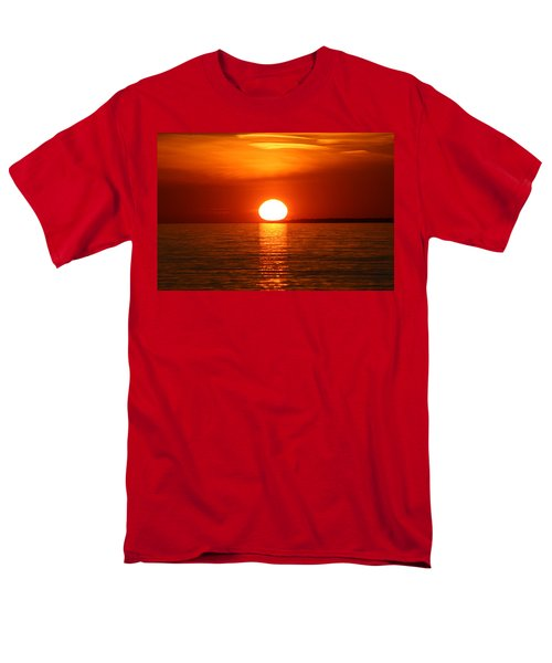 Men's T-Shirt  (Regular Fit) featuring the photograph Sunset On Superior by Paula Brown