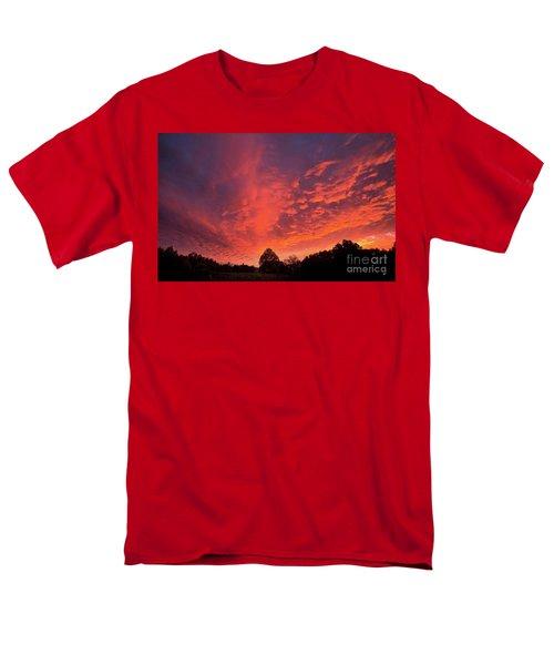 Sunset Over A Maine Farm Men's T-Shirt  (Regular Fit) by Alana Ranney