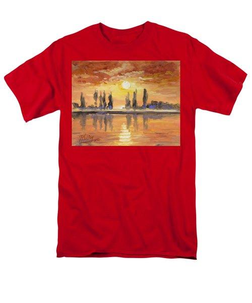 Sunset Over The Lake Men's T-Shirt  (Regular Fit) by Irek Szelag