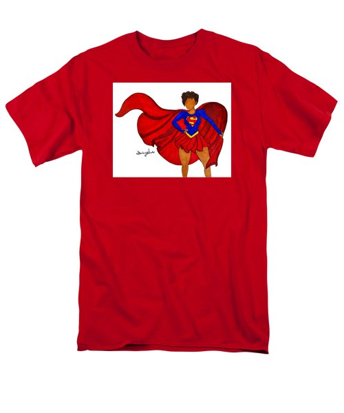 Superwoman I Am  Men's T-Shirt  (Regular Fit) by Diamin Nicole
