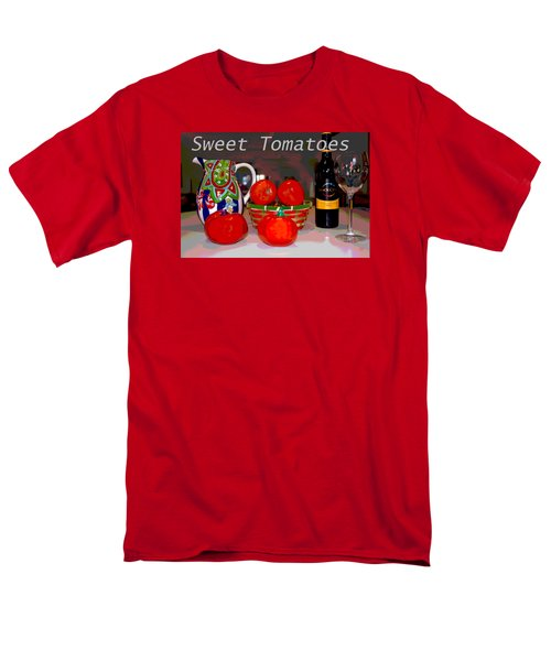 Men's T-Shirt  (Regular Fit) featuring the mixed media Sweet Tomatoes by Charles Shoup