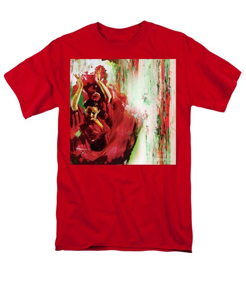Men's T-Shirt  (Regular Fit) featuring the painting Tango Dance 45g by Gull G