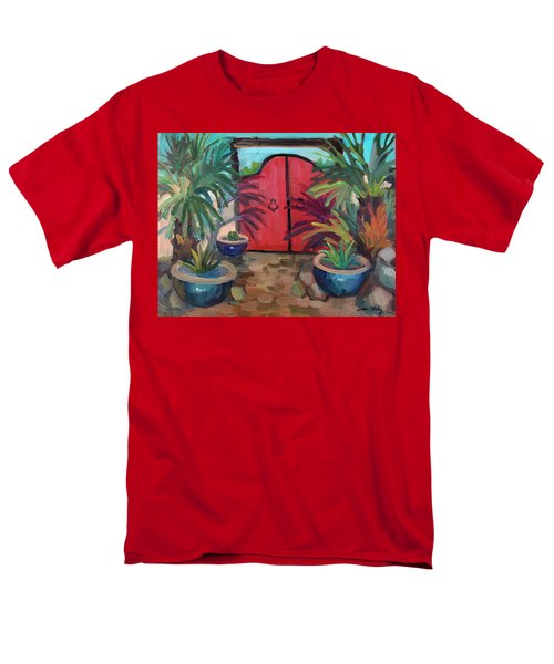 Men's T-Shirt  (Regular Fit) featuring the painting Tecate Garden Gate by Diane McClary